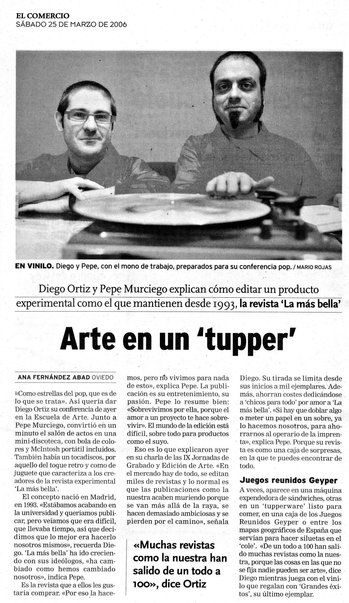 ReseñasPrensa-El Comercio-Oviedo_25 Marzo 2006