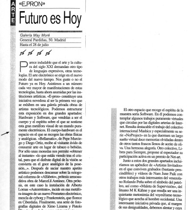 ReseñasPrensa-La Razón_29 Junio 2001_pag 36-francisco carpio